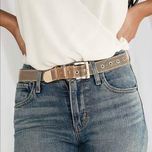 Mesh gold metal belt